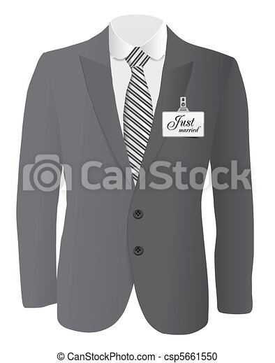 suit for wedding conept - csp5661550