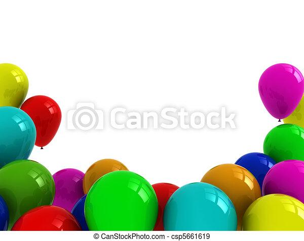 Balloons illustration - csp5661619