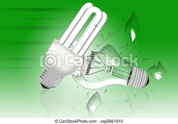 energy saving bulb survives  - csp5661910