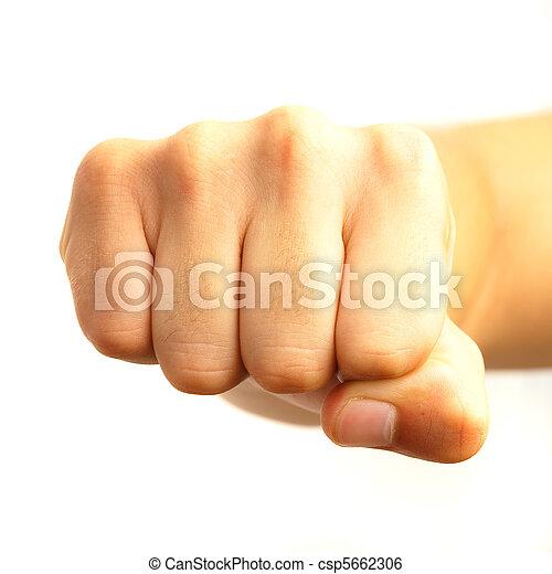 hand symbol fist - csp5662306