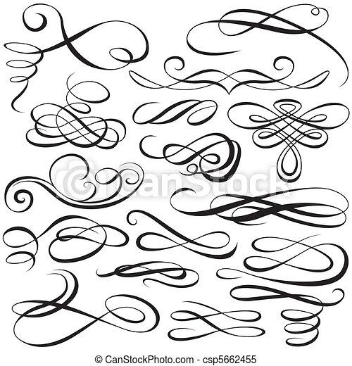 Calligraphic elements - csp5662455
