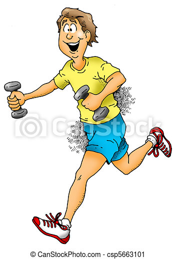 Jogging With Weights - csp5663101