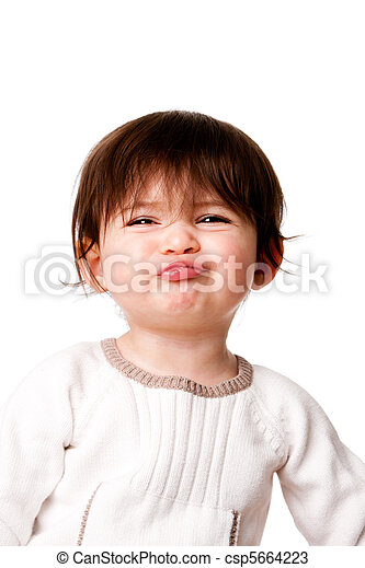 Funny baby toddler expression - csp5664223