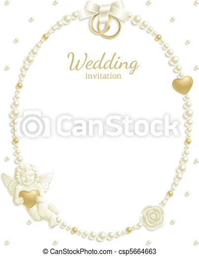 Wedding jewel frame - csp5664663