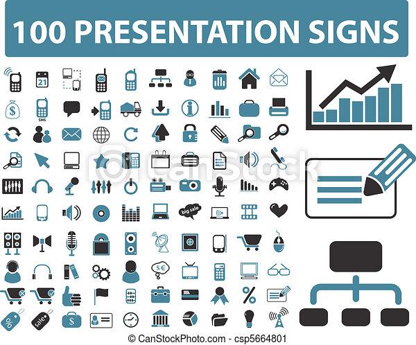 100 presentation signs - csp5664801