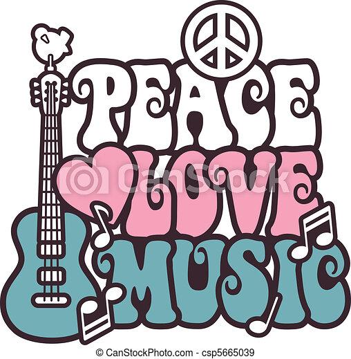 Peace Love Music_Pink-Blue - csp5665039