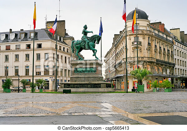 monument of Joan of Arc in Orleans, France - csp5665413