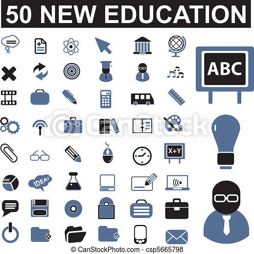 50 education signs - csp5665798