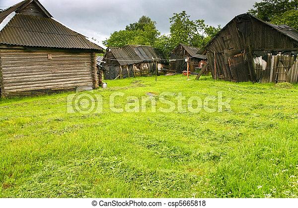 poor peasant household - csp5665818