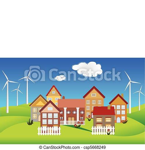 Environmentally conscious town - csp5668249