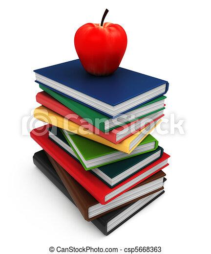 Pile of Books - csp5668363