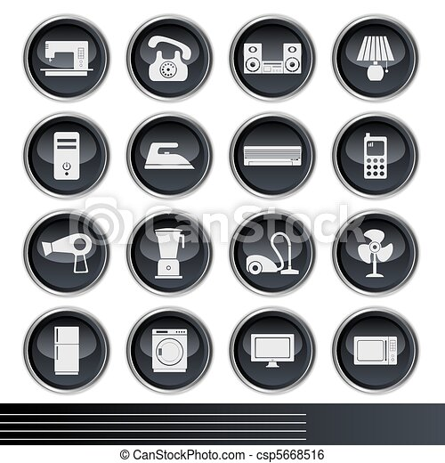 Electrical Appliances Icons Set - csp5668516