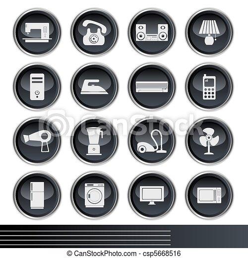 Electrical Appliances Icons Set  - csp5668516