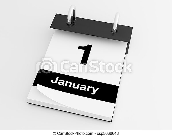 first january desktop calendar - csp5668648
