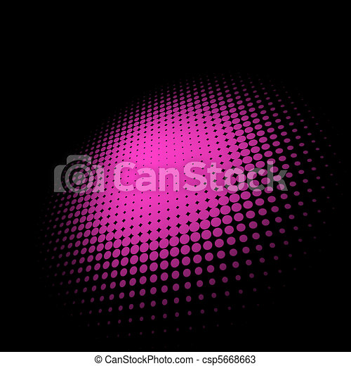 3D halftone circle background. EPS 8 - csp5668663