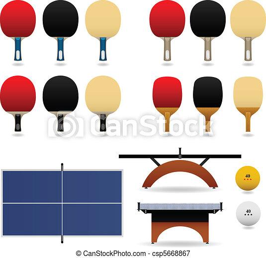 Table Tennis Set Vector - csp5668867