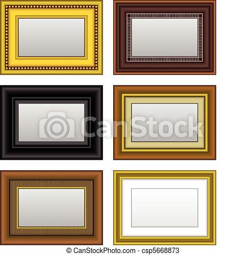 vektoren von bild rahmen foto spiegel a satz von bild und csp5668873 suchen sie. Black Bedroom Furniture Sets. Home Design Ideas