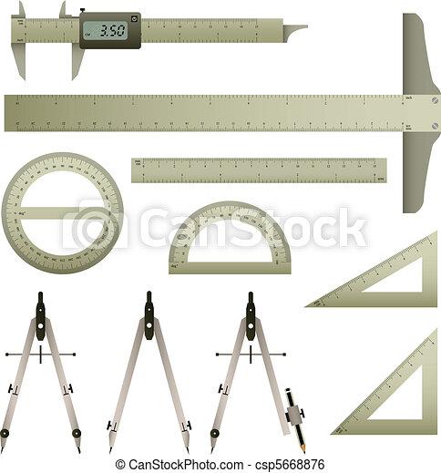 Ruler Mathematics Instrument - csp5668876