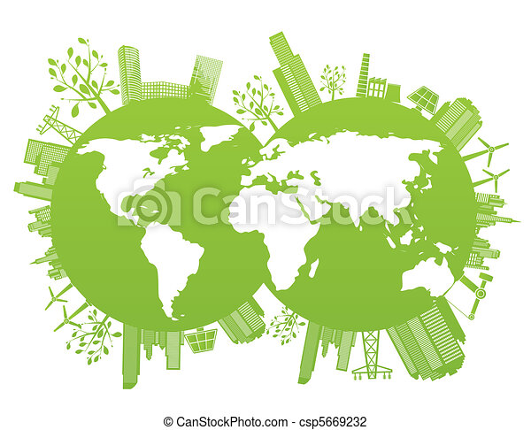 Green and environment planet  - csp5669232