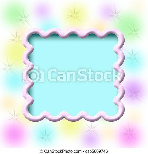 dreamy scrapbook frame - csp5669746
