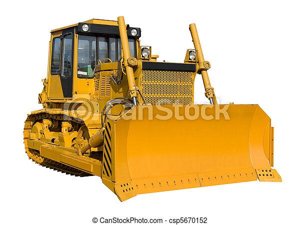 New yellow bulldozer - csp5670152