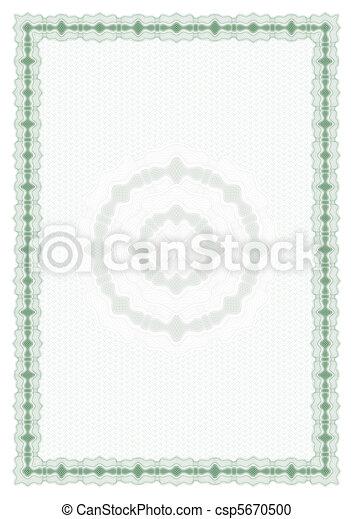 Blank diploma or certificate - csp5670500