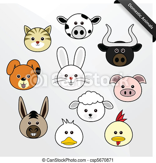 Domestic Animal Cute Cartoon - csp5670871