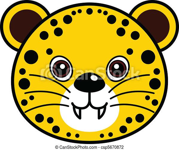 Cute Cheetah Vector - csp5670872