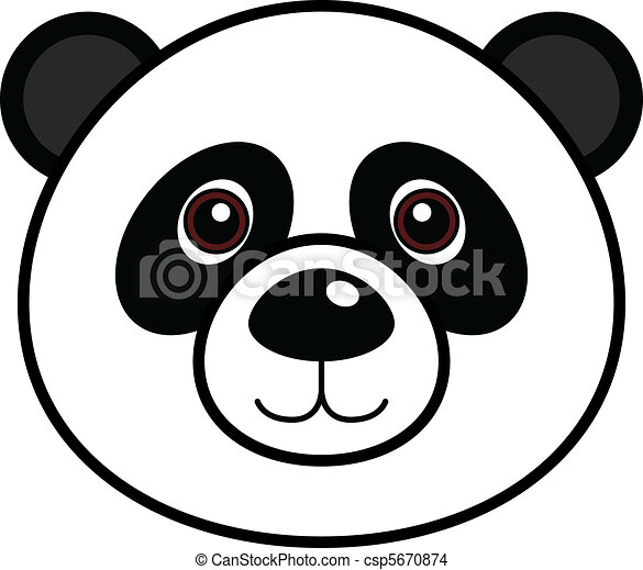 Cute Panda Vector - csp5670874