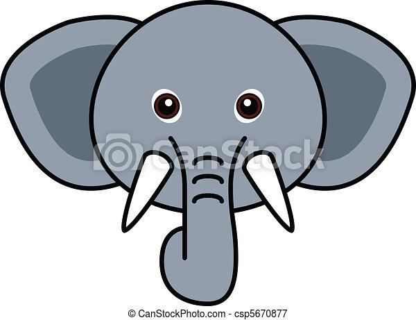 Ilustraciones vectoriales de lindo, elefante, vector - lindo ...