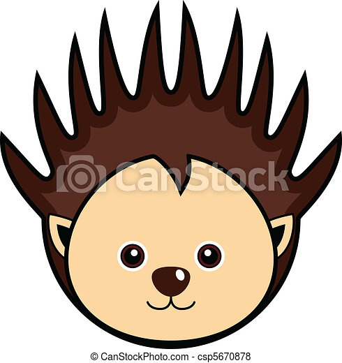 Vector of Cute Porcupine Vector - Cute animal faces in (One of 25 ...