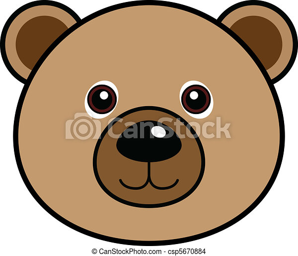 Cute Bear Vector - csp5670884