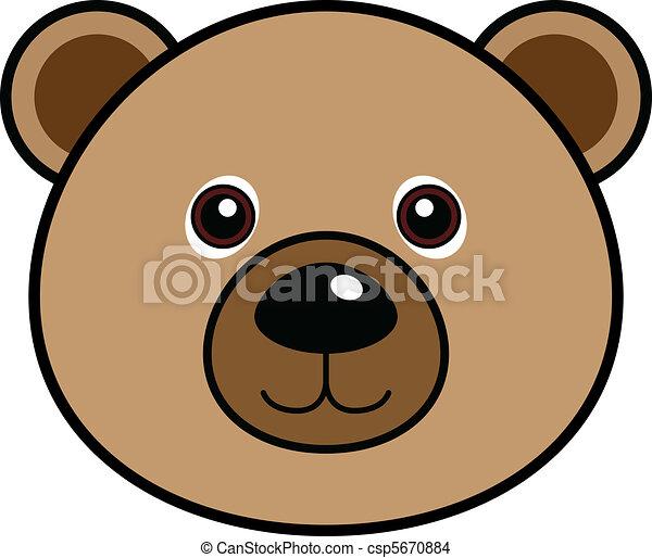 Cute Bear Vector - csp5670884