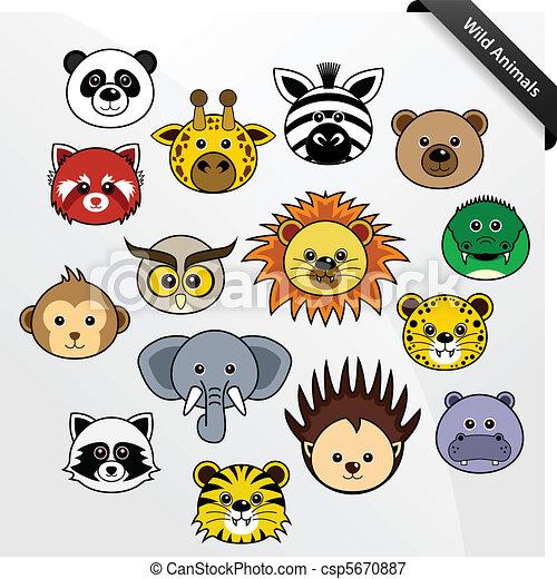 Wildlife Animal Cute Cartoon - csp5670887