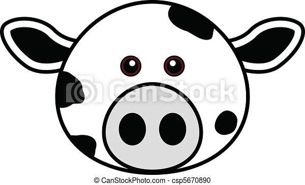 Cute Cow Face Drawing Cute Cow Face Csp5670890
