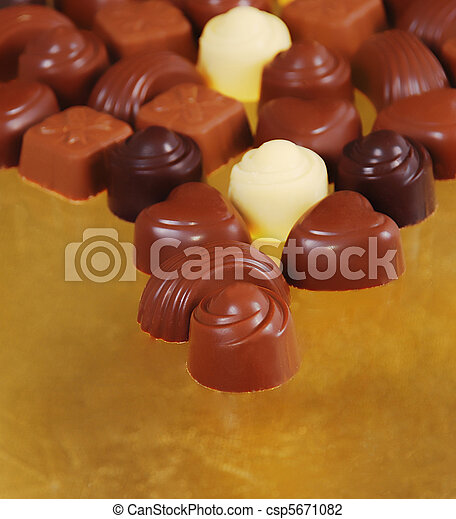 Chocolate bon bons - csp5671082