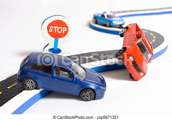 two cars accident on road - csp5671321