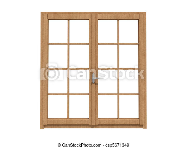 wooden windows - csp5671349