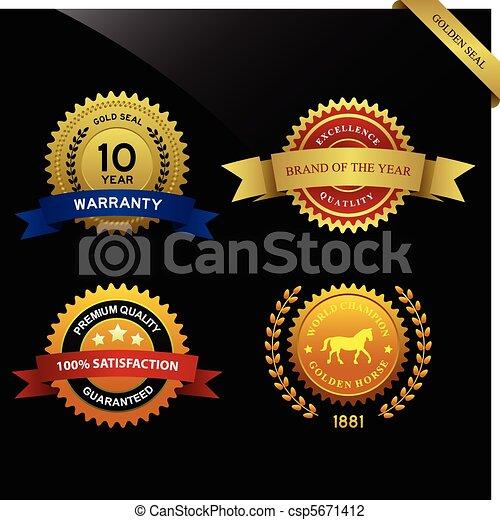 Warranty Guarantee Seal Award - csp5671412