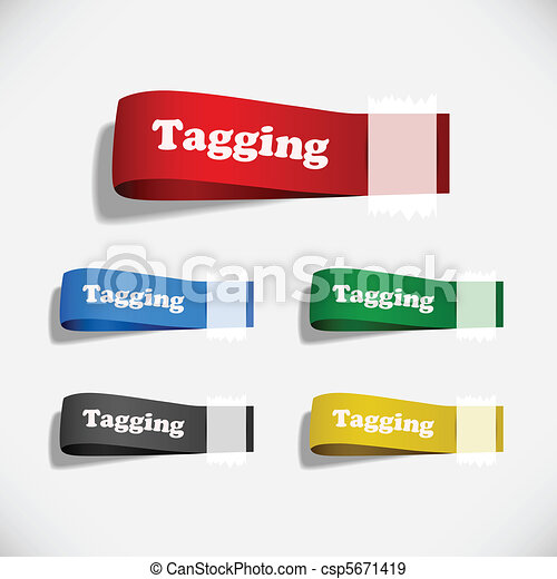 Tag Sticker Label Plaster Shadow - csp5671419