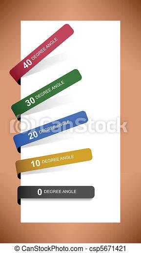 Tag Label Sticker Paper Shadow - csp5671421