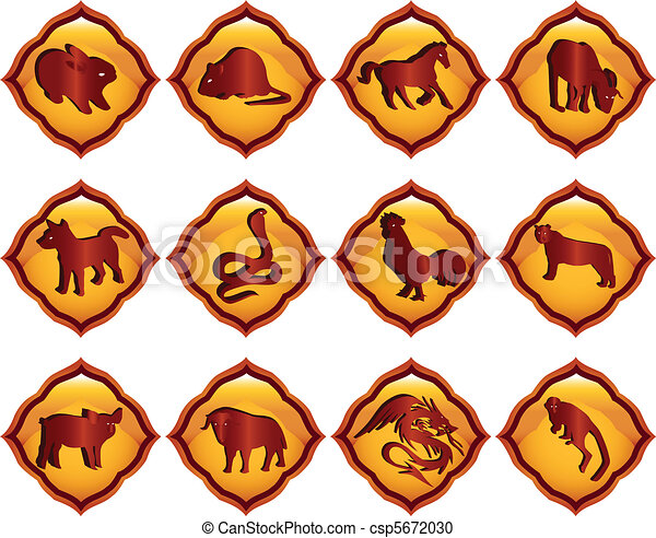 Chinese astrology Vector Clipart Royalty Free. 4,689 Chinese ...