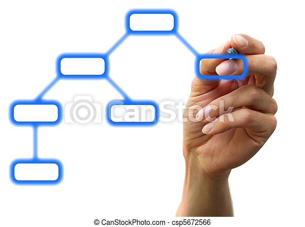 businessman?s hand chooising one of the options - csp5672566