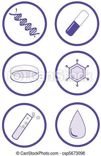 Medical laboratory test icon set - csp5673098
