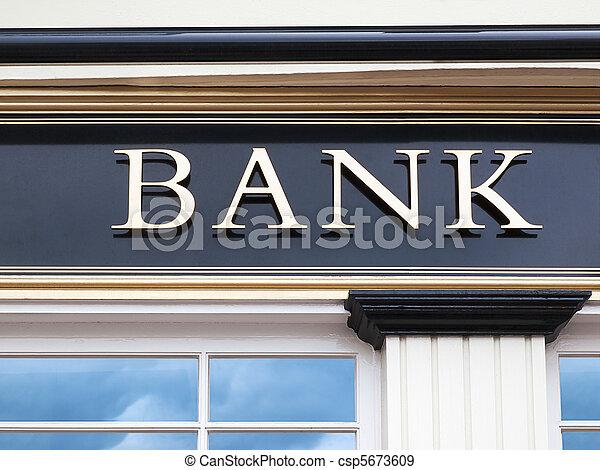 byggnad, bank - csp5673609