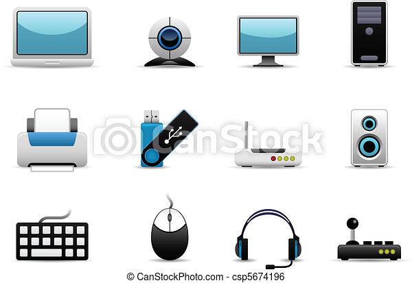 Computer Hardware Icons - csp5674196