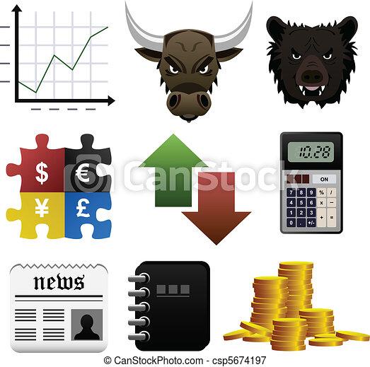Stock Market Finance Money Icon - csp5674197