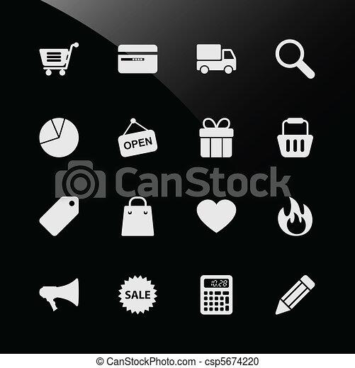 Ecommerce Shopping Web Icons - csp5674220