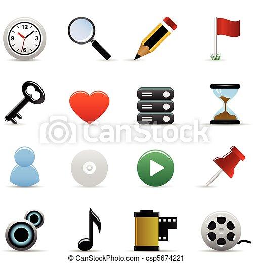 Web Icons Vector - csp5674221