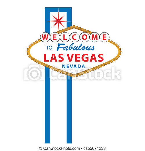 Welcome to Las vegas sign - csp5674233